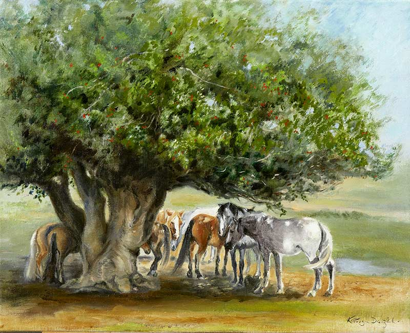 New Forest Ponies - Oil on canvas